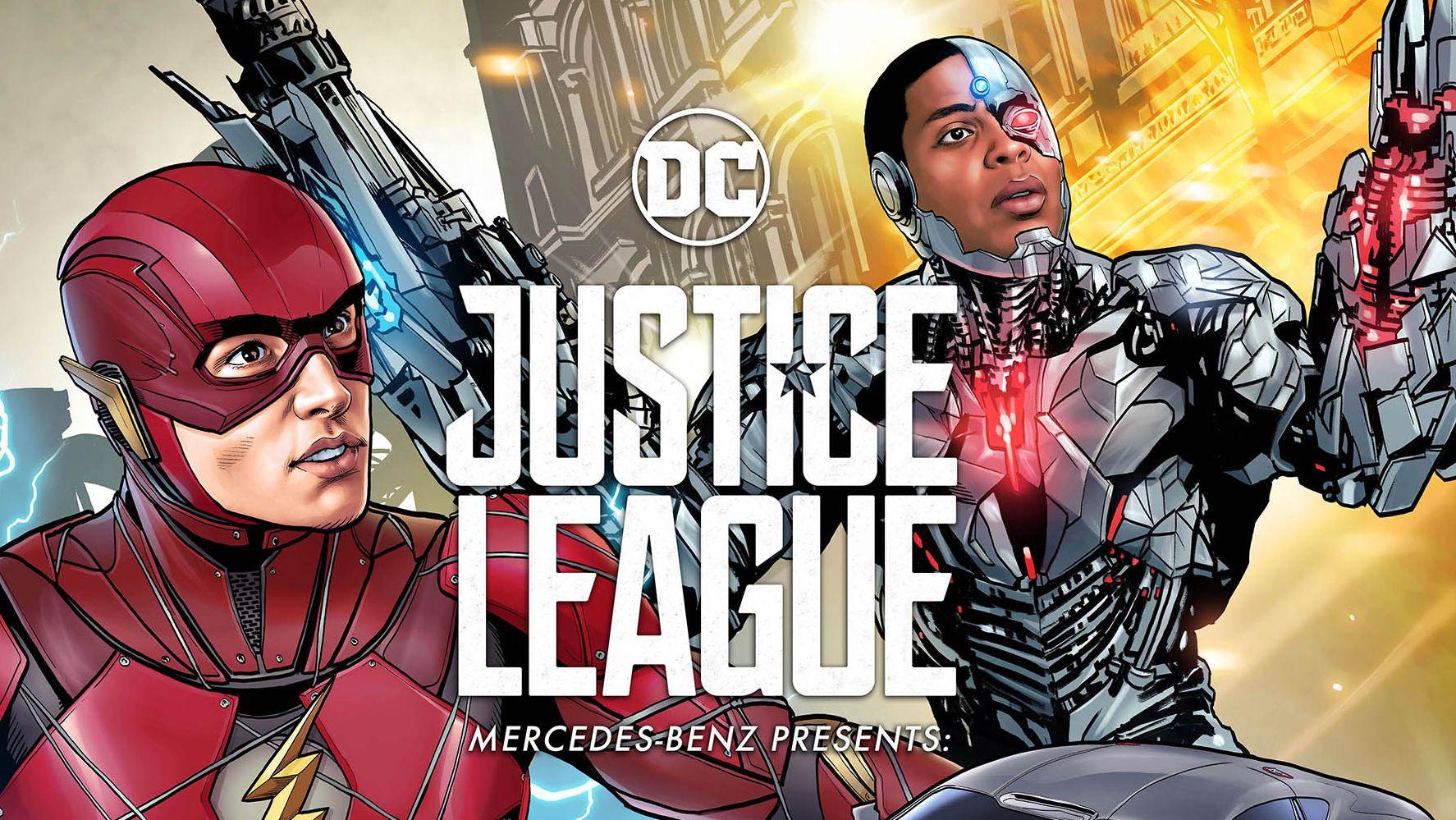 Justice league mercedes lockt superhelden fans mit for Justice league mercedes benz