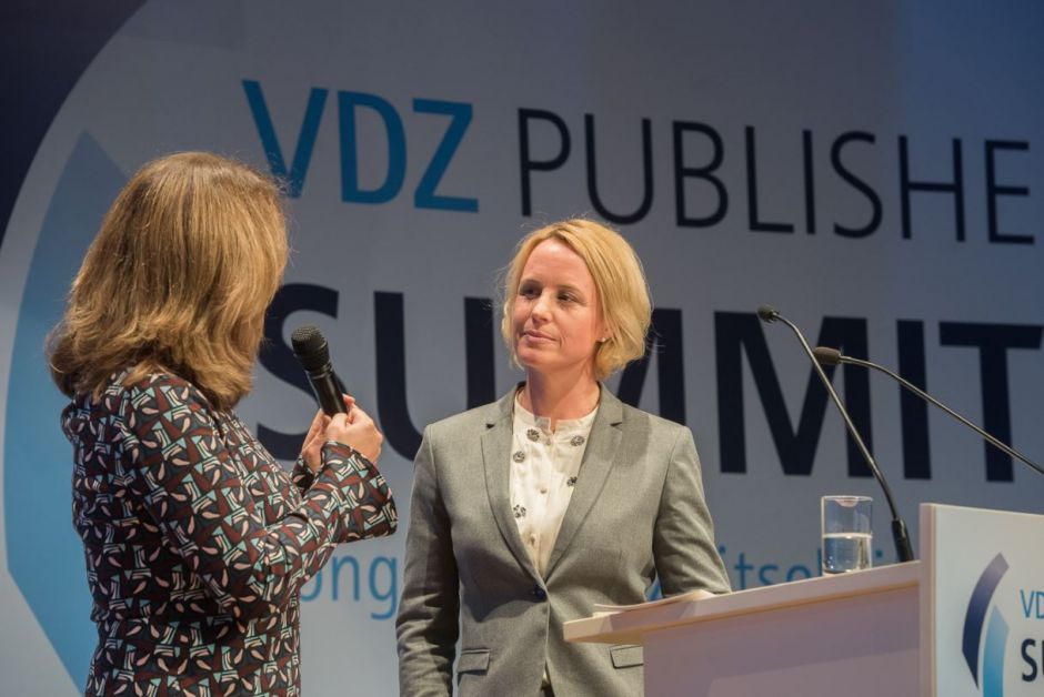 Julia Becker beim VDZ Publisher's Summit