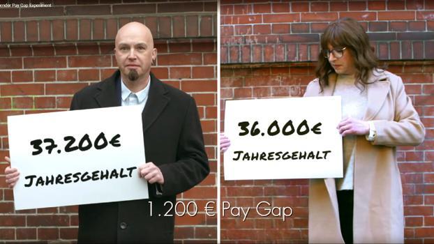 Die Kampagne von JvM/Saga für Terres des Femmes zeigt deutlich, wie groß der Gender Pay Gap ist