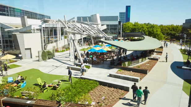 Der Google Campus in Mountain View