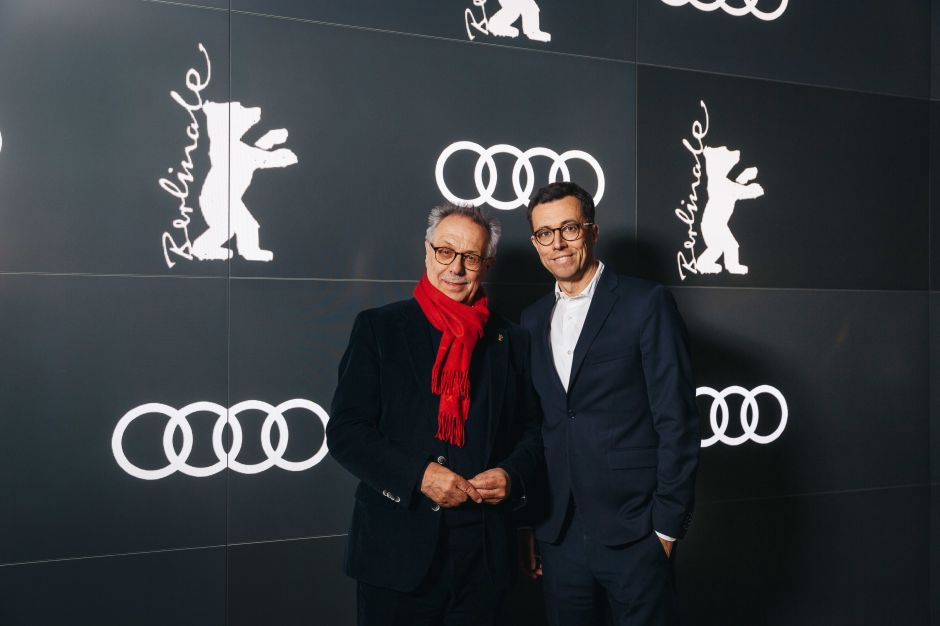 Jason Lusty, Leiter Marketing Deutschland bei Audi (r.), mit Berlinale-Festivaldirektor Dieter Kosslick