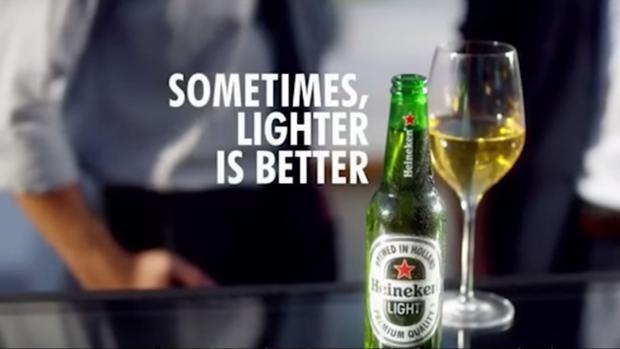 Diesen Light-Bier-Spot musste Heineken zurückziehen
