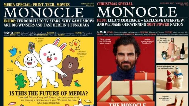 Zwei Monocle-Cover