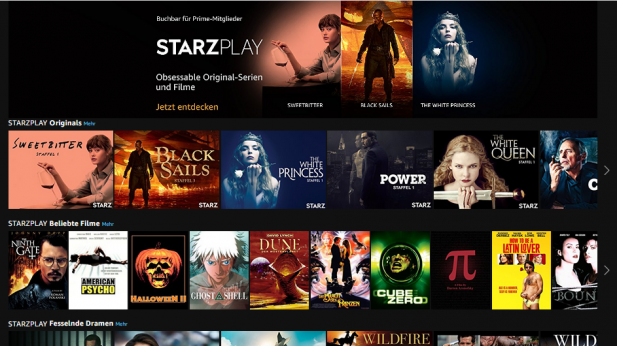 Prime Video Channels: Amazon bringt Starzplay nach Deutschland