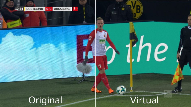 Virtuelle Werbung Bundesliga
