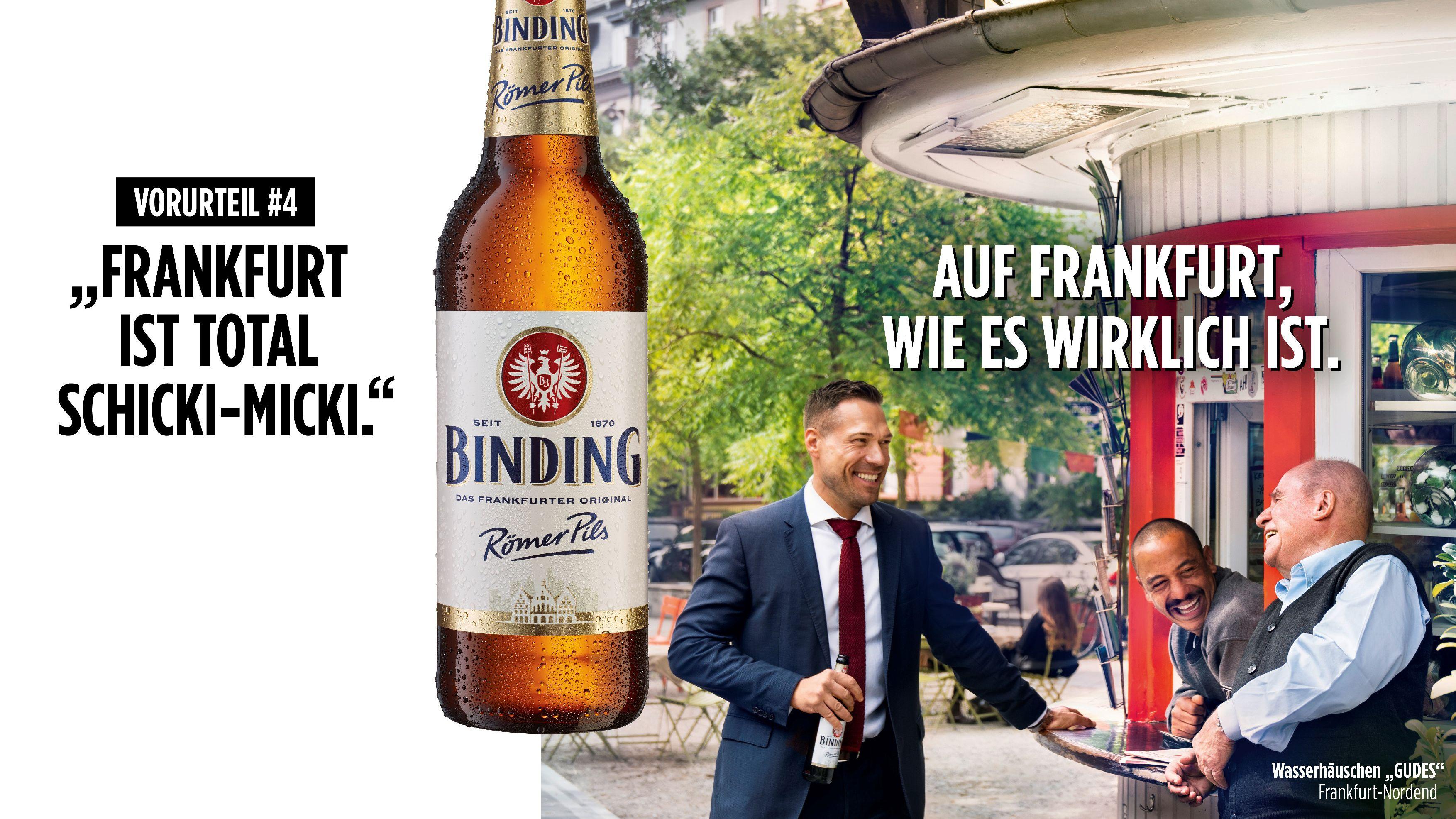 Von wegen schickimicki: So stoßen Ogilvy und Binding auf Frankfurt an