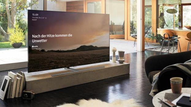 Upday ist auch auf Schweizer Smart-TVs zu sehen