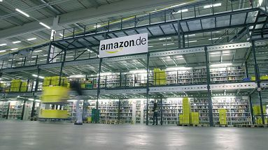 Das Amazon-Logistikzentrum in Bad Hersfeld