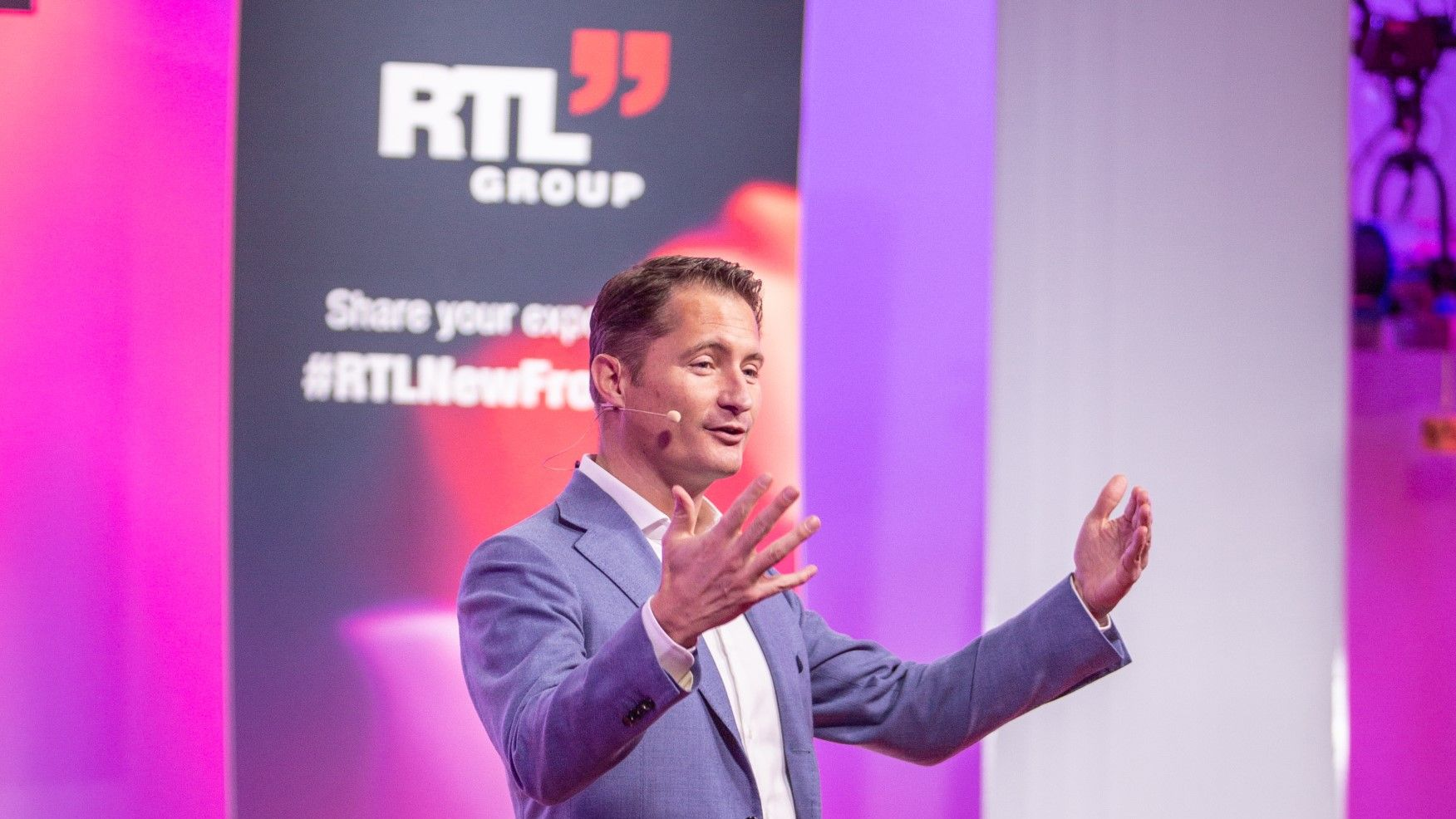 CEO Bert Habets beim Management Summit 2018 der RTL Group