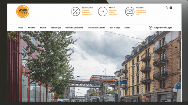 Die Website https://visionzero.info von Continental