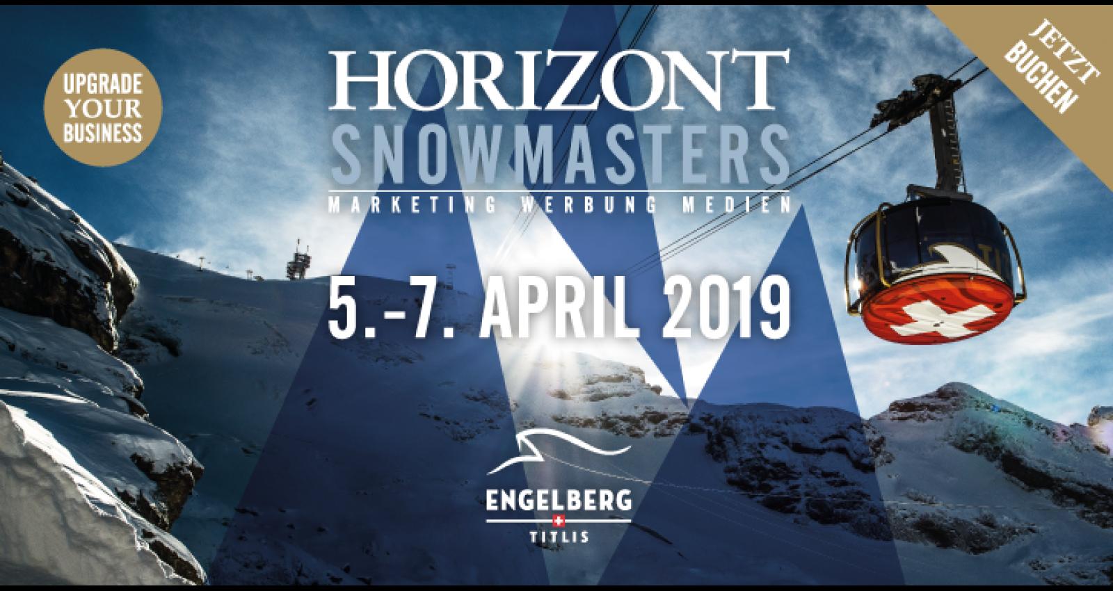 Branchenevent: HORIZONT Snowmasters finden erstmals in der Schweiz statt