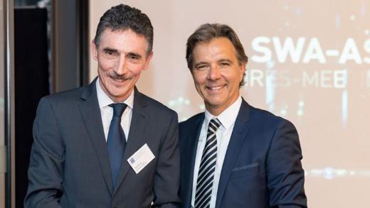 SWA-Direktor Roland Ehrler und Präsident Roger Harlacher