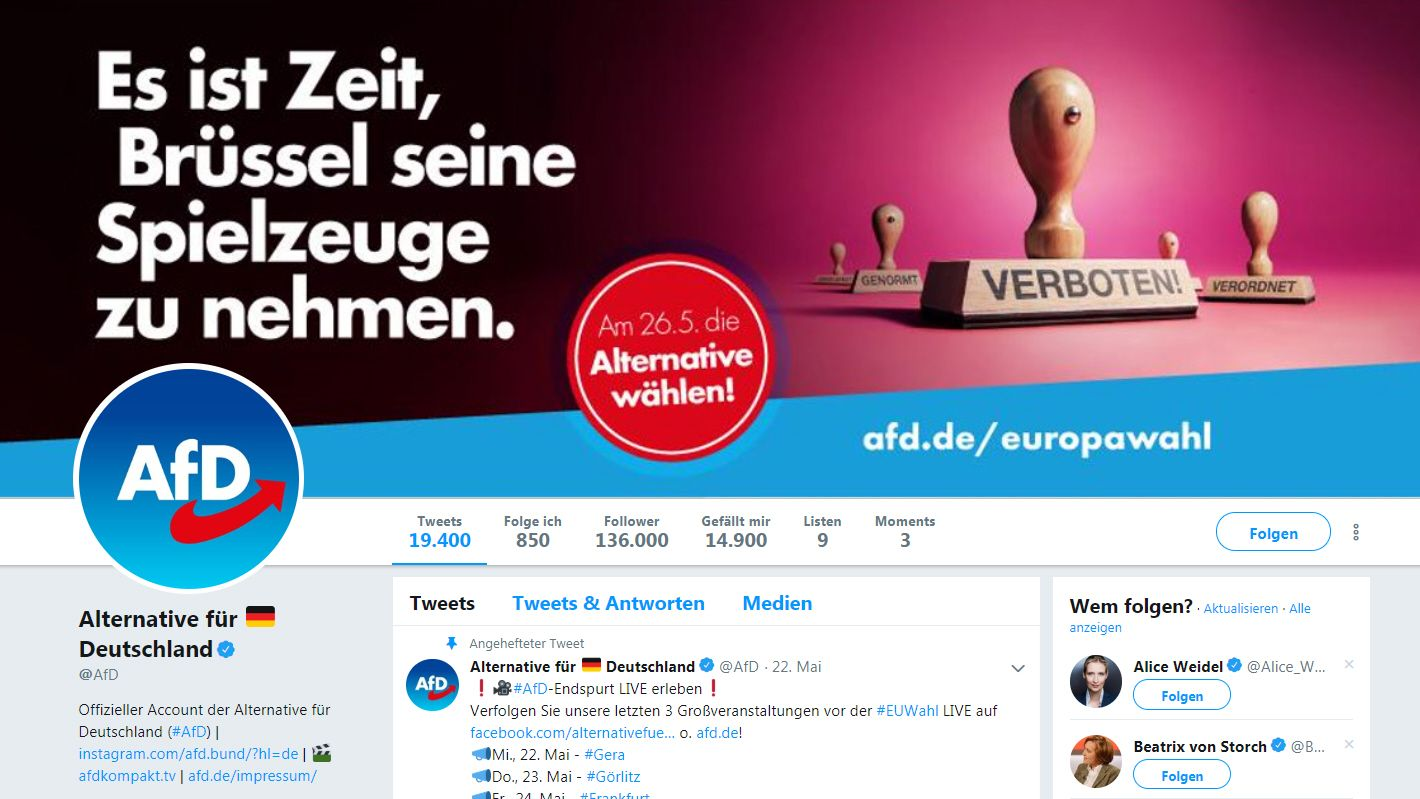 Social Media: AfD nutzte fragwürdige Twitterstrategie