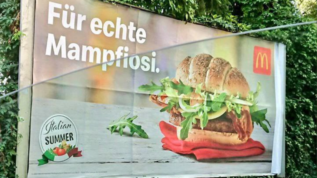 """""""Mampfiosi"""": McDonald's entschuldigt sich für Plakatmotiv in Österreich"""