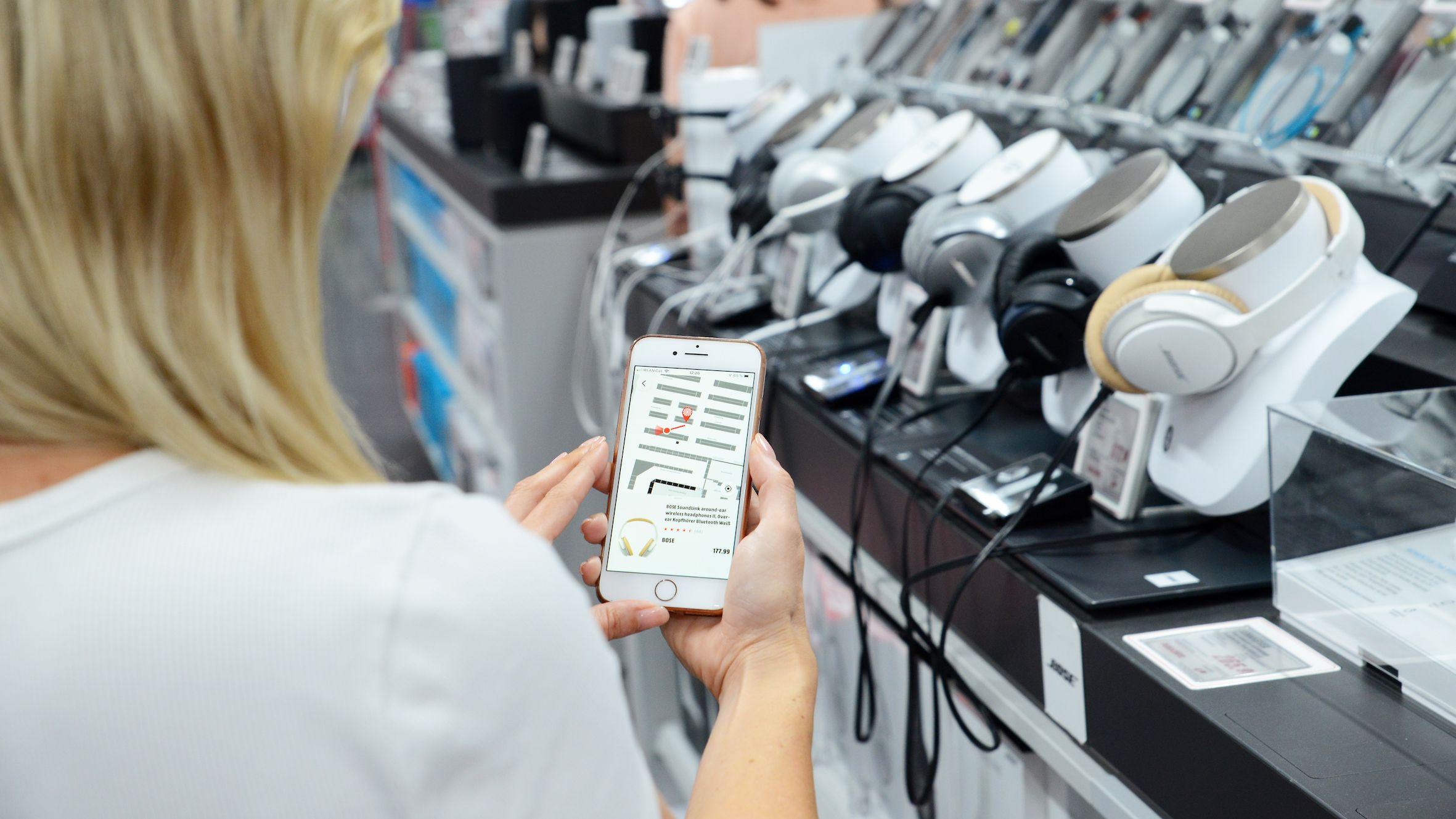 Instore Navigation: Media Markt lotst Kunden künftig per Smartphone durch die Läden