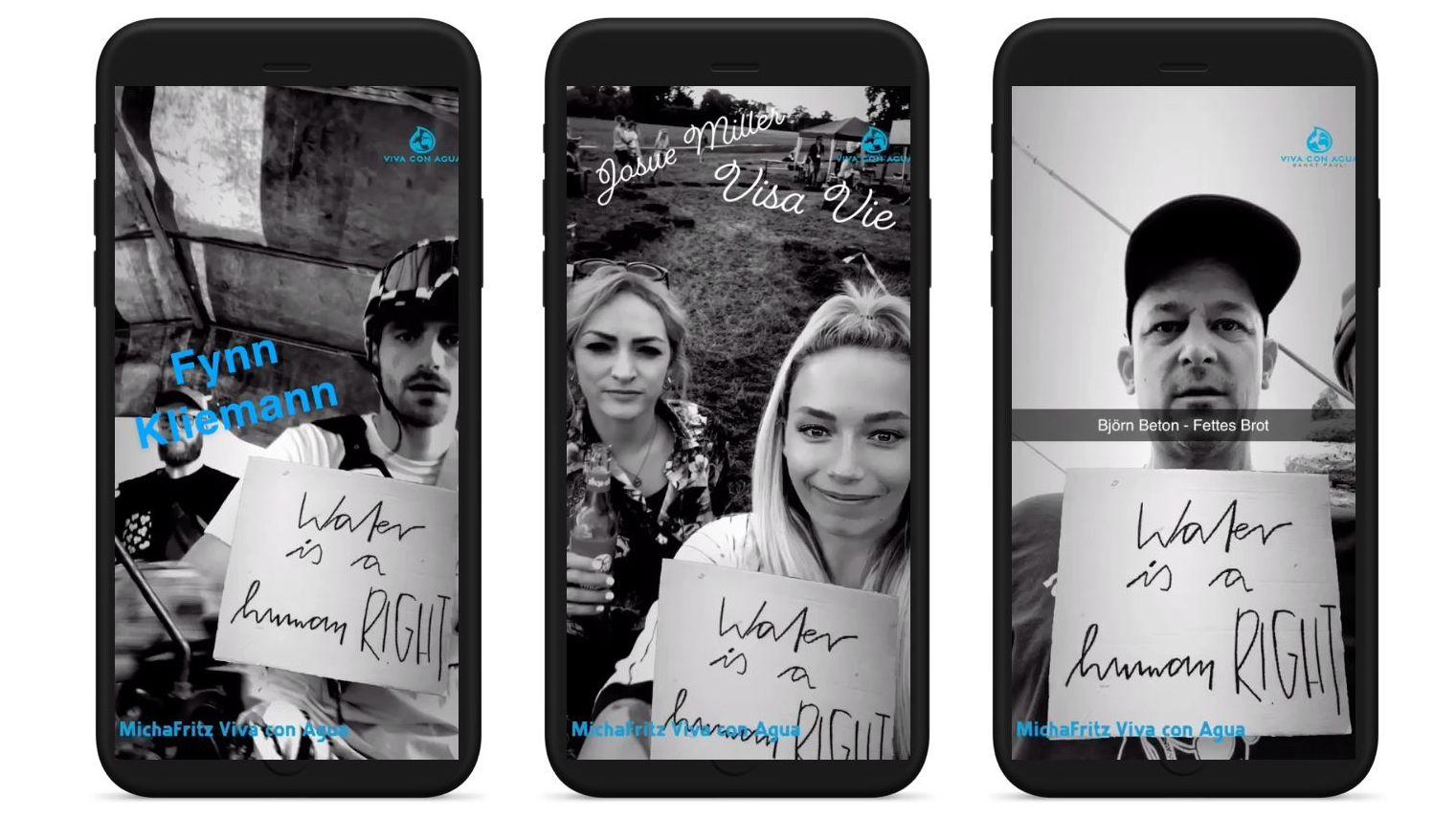 Mit Fynn Kliemann, Joko & Co: Snapchat und Viva con Agua setzen sich mit AR-Tool für sauberes Trinkwasser ein