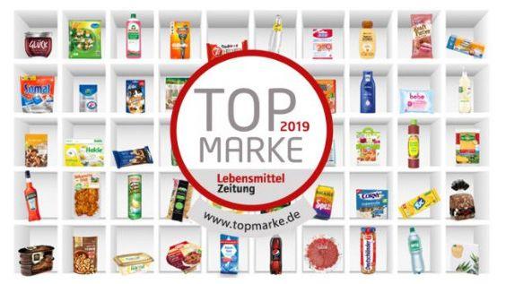 Top Marke 2019: Lebensmittel Zeitung gibt Top-Marken für 2019 bekannt