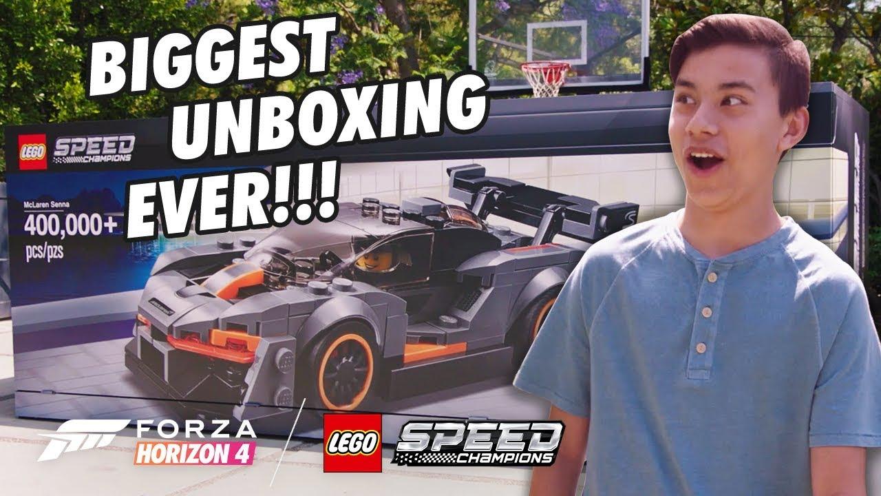 Lego Speed Champions: Microsoft überrascht Youtube-Star mit riesigem Unboxing-Stunt