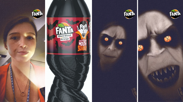 Spooky: Fanta Black Blood Orange Snapchat Filter