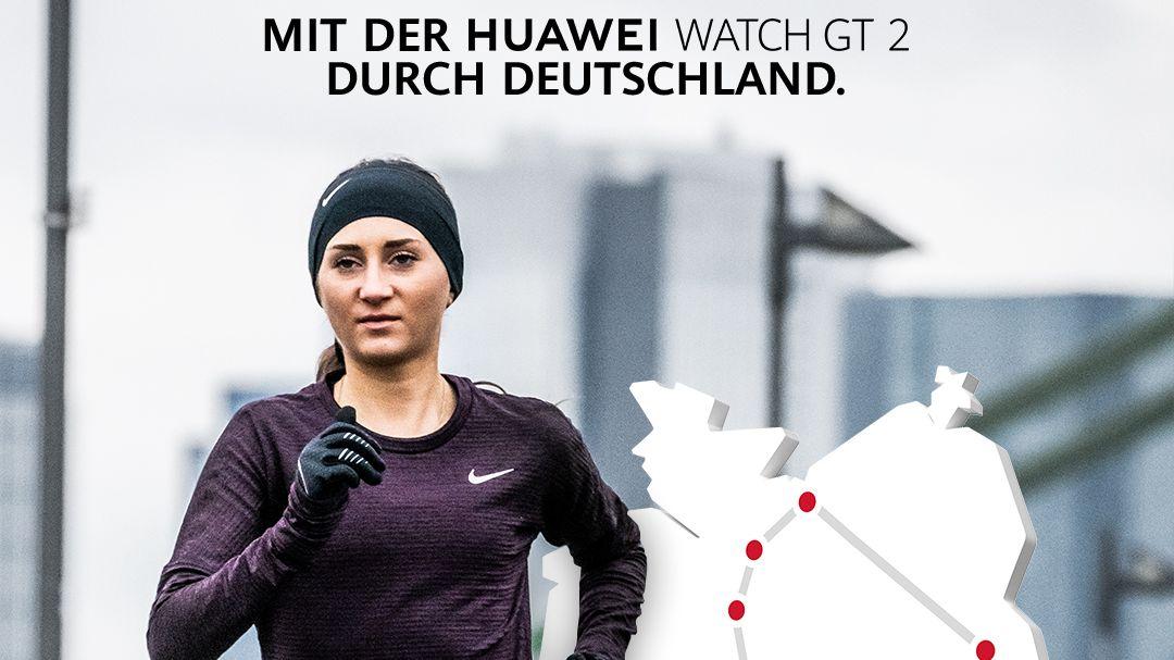 #Läuft2Wochen: Huawei schickt Gesa Felicitas Krause auf große Tour durch Deutschland
