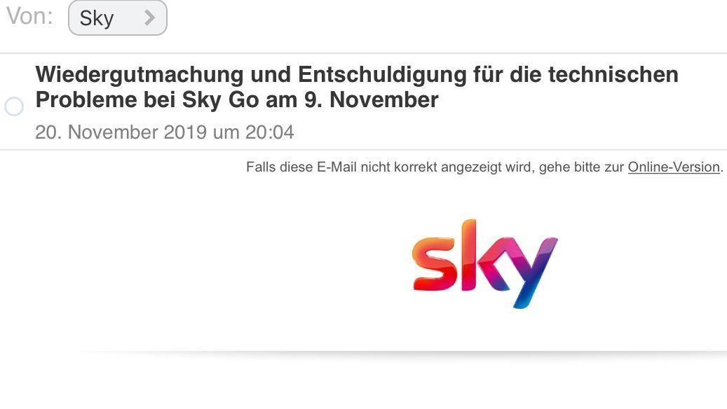 Streamingdienst: So entschuldigt sich Sky für den Ausfall von Sky Go beim Spiel Bayern gegen Dortmund