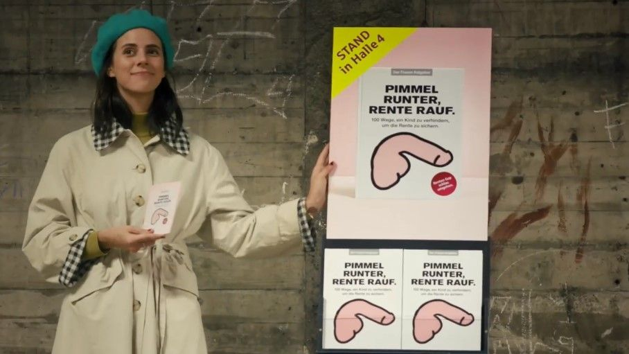 Pimmel runter, Rente rauf: Sparkasse und Jung von Matt provozieren mit Guerilla-Aktion zur Buchmesse