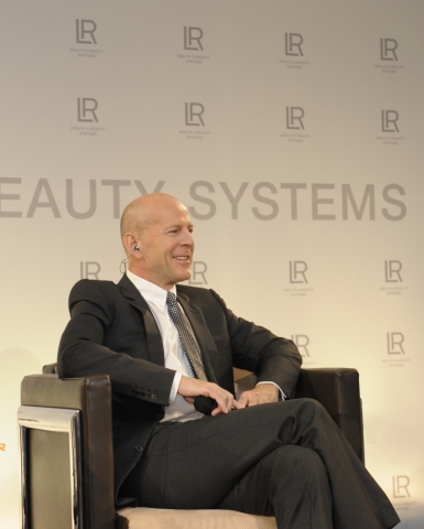 Bruce Willis beim Launchevent in Frankfurt