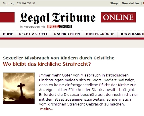 Das Portal Legal Tribune Online