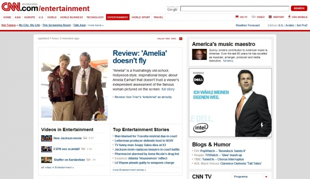 Die Entertainment-Site von CNN