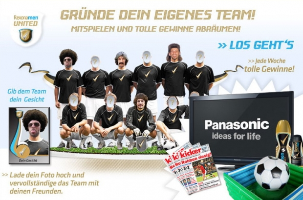 "Die ""Rexona men United""-Applikation"