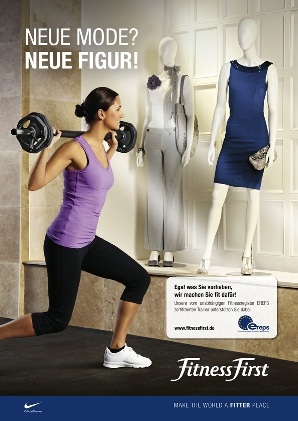 Fitness First-Anzeigemotive