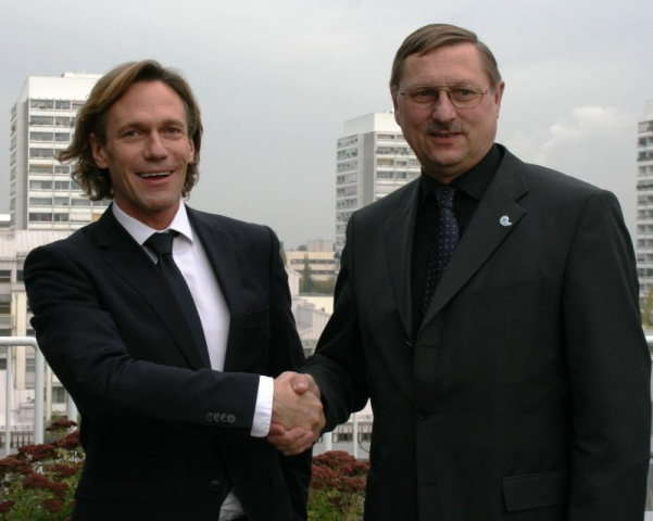 Manfred Ruf (Burda Sports Group) und Rudolf Behacker (Sportamtsleiter München) - v.l.