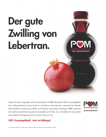 Pom Wonderful startet Kommunikation in Deutschland
