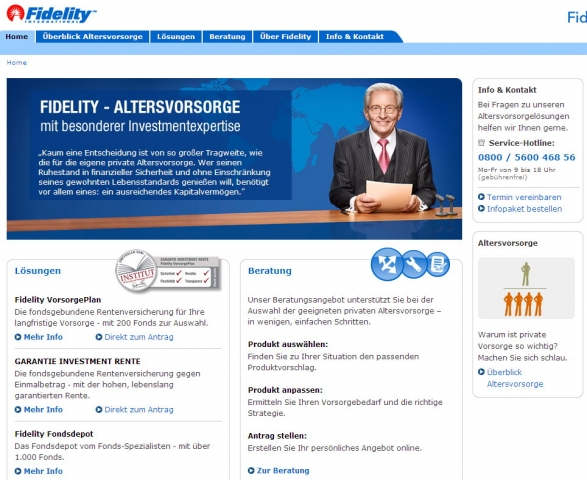 Screenshot der Site