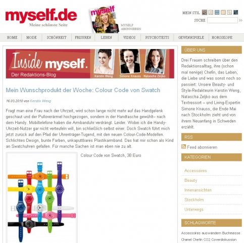 "Screenshot des Redaktions-Blogs ""Inside Myself"""