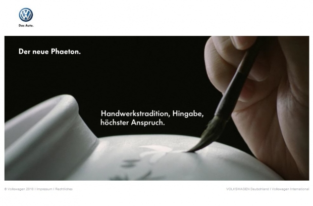 Screenshot vom Phaeton-Webspecial