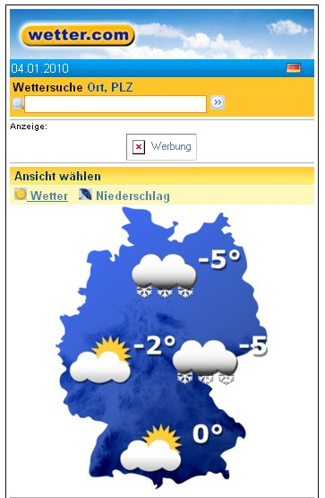 Wetter.Com Mobile Version