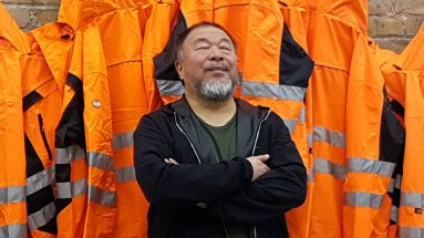 "Ai Weiwei auf der Premiere von ""Safety Jackets Zipped the Other Way"""