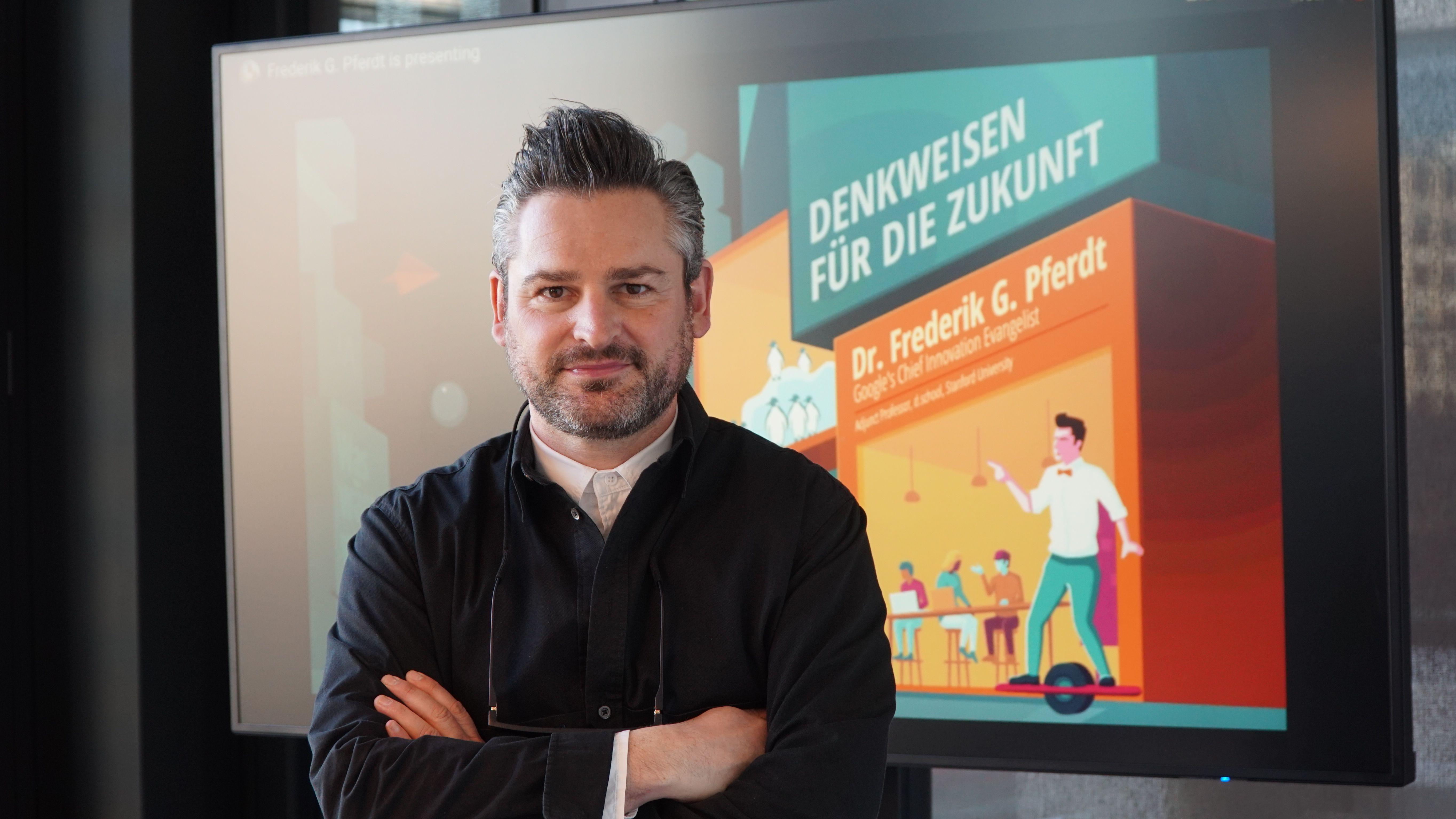 """""""Future of Work"""": Denkweisen der Zukunft von Google's Chief Innovation Evangelist Dr. Frederik G. Pferdt"""