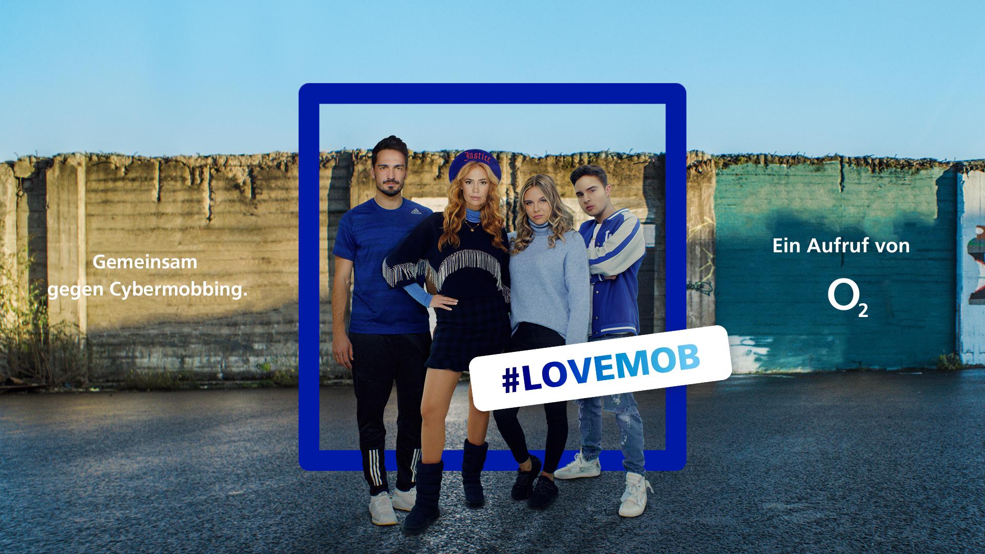 #LOVEMOB: Mit dieser Influencer-Kampagne will O2 gegen Cybermobbing mobil machen