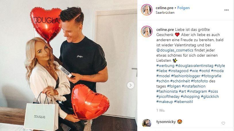 Influencer-Marketing zum Valentinstag: Die Kampagnen von Douglas, Bloomon und Cewe im Check