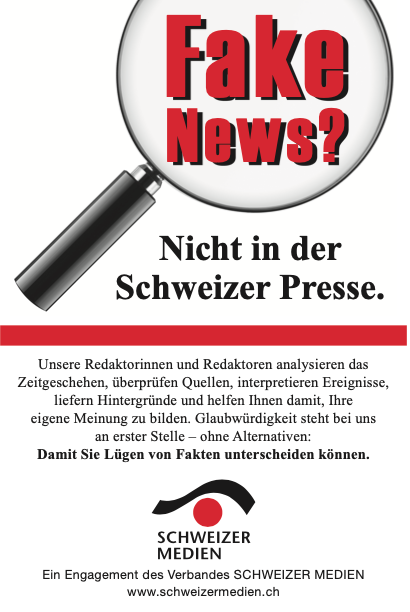 Füllerinserat, downloadbar unter https://www.schweizermedien.ch/marketingprojekte/kampagne-gegen-fake-news