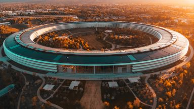 Der Apple Park in Cupertino, Kalifornien