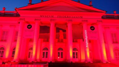 "Das Museum Fridericianum in Kassel bei der ""Night of Light"""