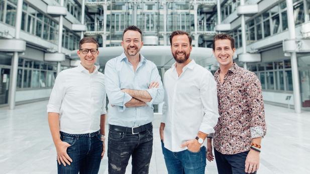 Das Zeotap-Führungsteam: Florian Lichtwald (Chief Data Partnerships Officer), Daniel Heer (CEO & Founder), Stefan Blumenthal (Country Manager DACH), Oliver Kanders (Chief Client Officer) (v.l.n.r.)