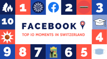 Facebook Top 10 in der Schweiz