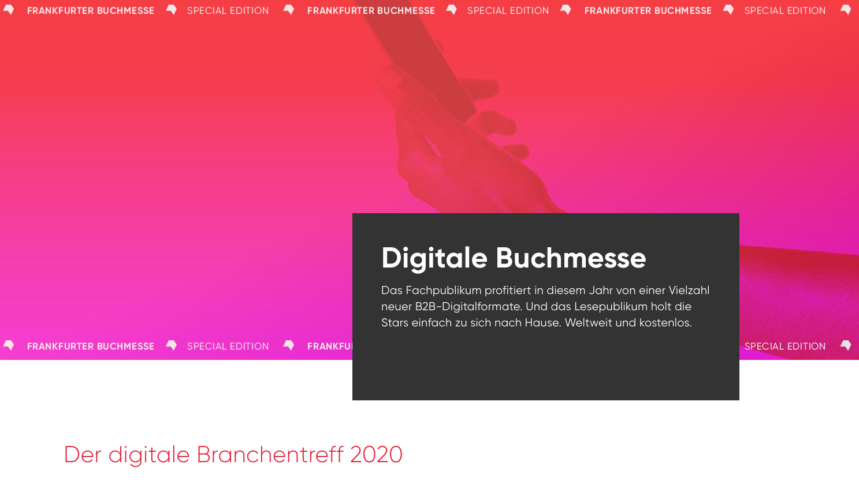 Frankfurter Buchmesse: Positive Bilanz der digitalen Formate: mehr als 200.000 User