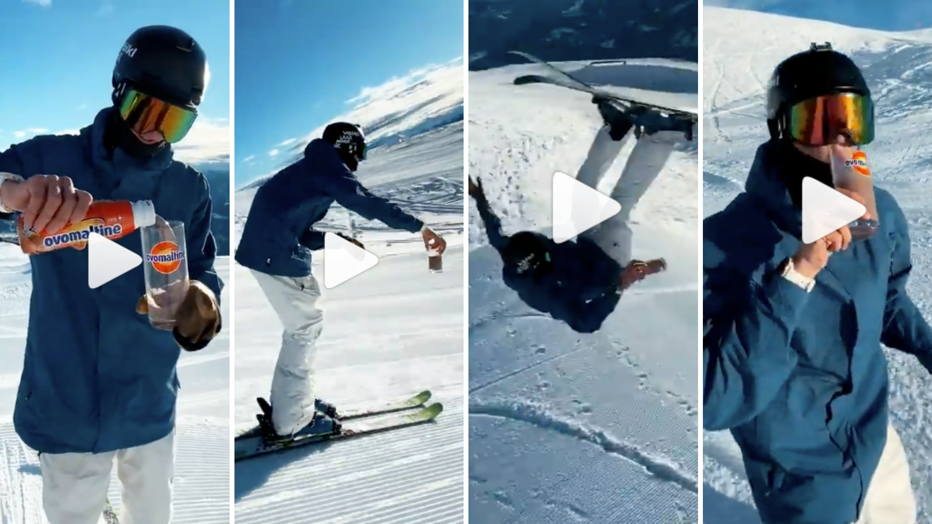 "Highlight der Social Campaign ""Easy Winter"" vo Ovomaltine: Ein Stunt-Video in Anlehnung an die legendäre #GotMilk-Challenge von Tony Hawk"