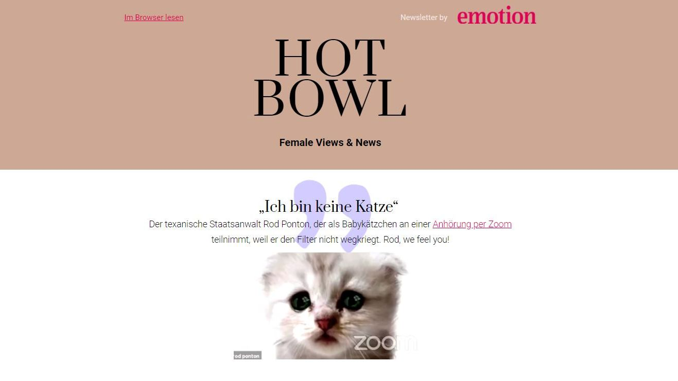 """Female Views & News"": Die verspricht Inspiring Network mit dem neuen Newsletter ""Hot Bowl"""