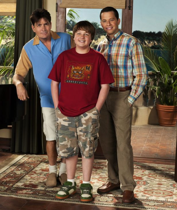 "Charlie Sheen (l.) in ""Two an A Half Men"""
